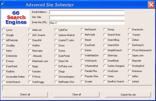 Product picture Advanced Search Engine Submitter, full resell rights