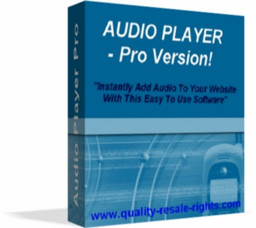 Product picture Audio Player Pro Software