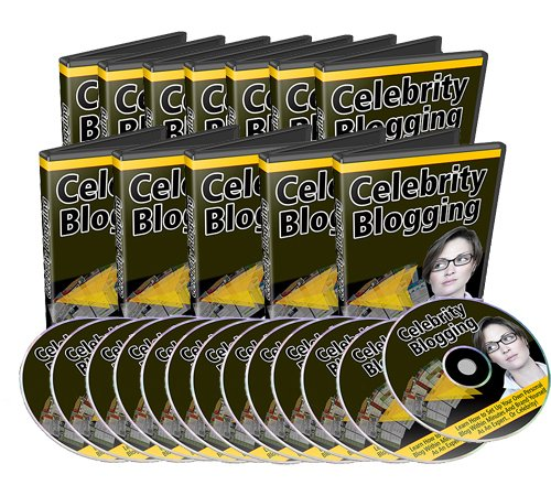 Product picture Set Of 12 Celebrity Blogging Videos