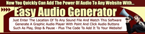 Product picture Easy Audio Generator Pro Software