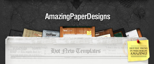 Product picture Amazing Paper Designs - Hot New Sales Page Templates