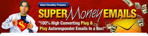 Product picture Super Money Emails - Plug & Play Autoresponder Emails In A Box