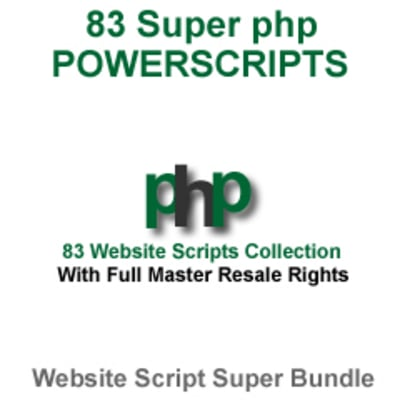 Product picture 80+ Super PHP Scripts to Spruce up your Website - MRR