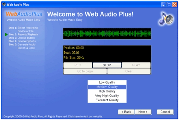 Product picture Web Audio Plus - Instantly Add Streaming Audio To Your Site
